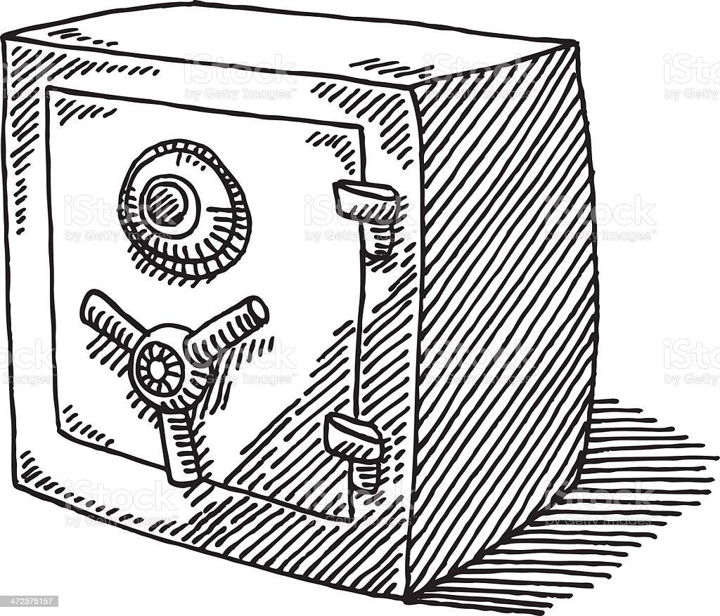 Coffrefort de banque dessin cliparts vectoriels et plus - Coffre dessin ...