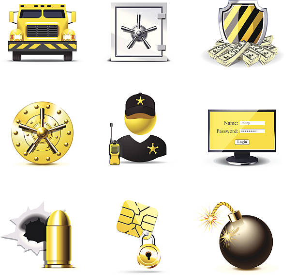 Bank security icons   Bella series vector art illustration