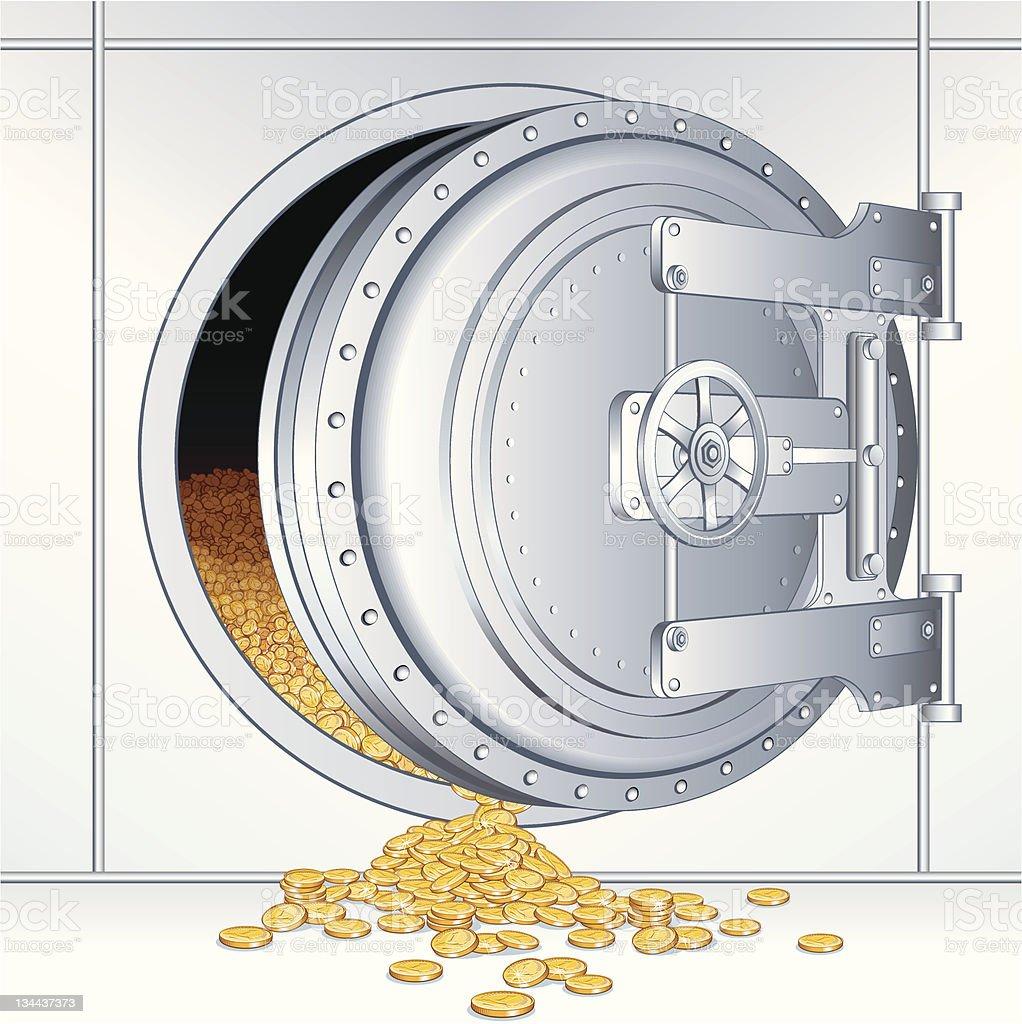 Bank Storage royalty-free bank storage stock vector art & more images of ajar