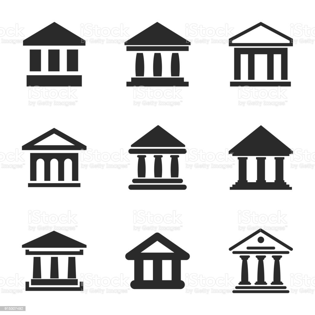 Bank vector icons. vector art illustration