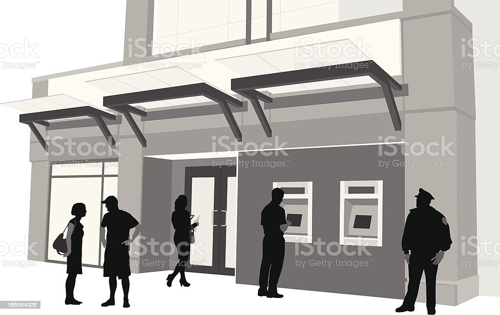 Bank royalty-free bank stock vector art & more images of atm