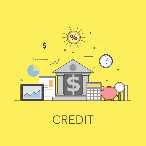 banking and business. financial market. secure transactions and payments protection, the guarantee security of financial deposits, transactions and savings deposits - credit score stock illustrations, clip art, cartoons, & icons