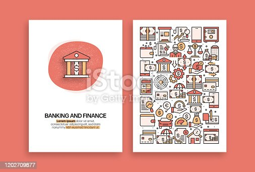 Banking and Finance Related Design. Modern Vector Templates for Brochure, Cover, Flyer and Annual Report.