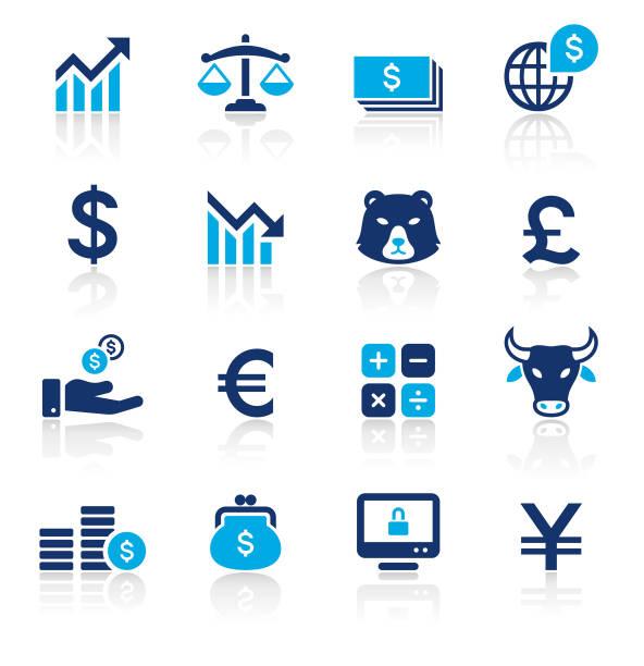 銀行・金融の 2 つの色のアイコンを設定します。 - 財布点のイラスト素材/クリップアート素材/マンガ素材/アイコン素材