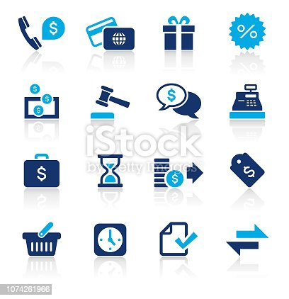 An illustration of banking and finance two color icons set for your web page, presentation, apps and design products. Vector format can be fully scalable & editable.