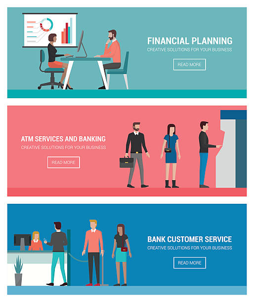 banking and finance - receptionist stock illustrations, clip art, cartoons, & icons