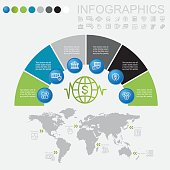 Banking and Finance World Infographic Line Icons