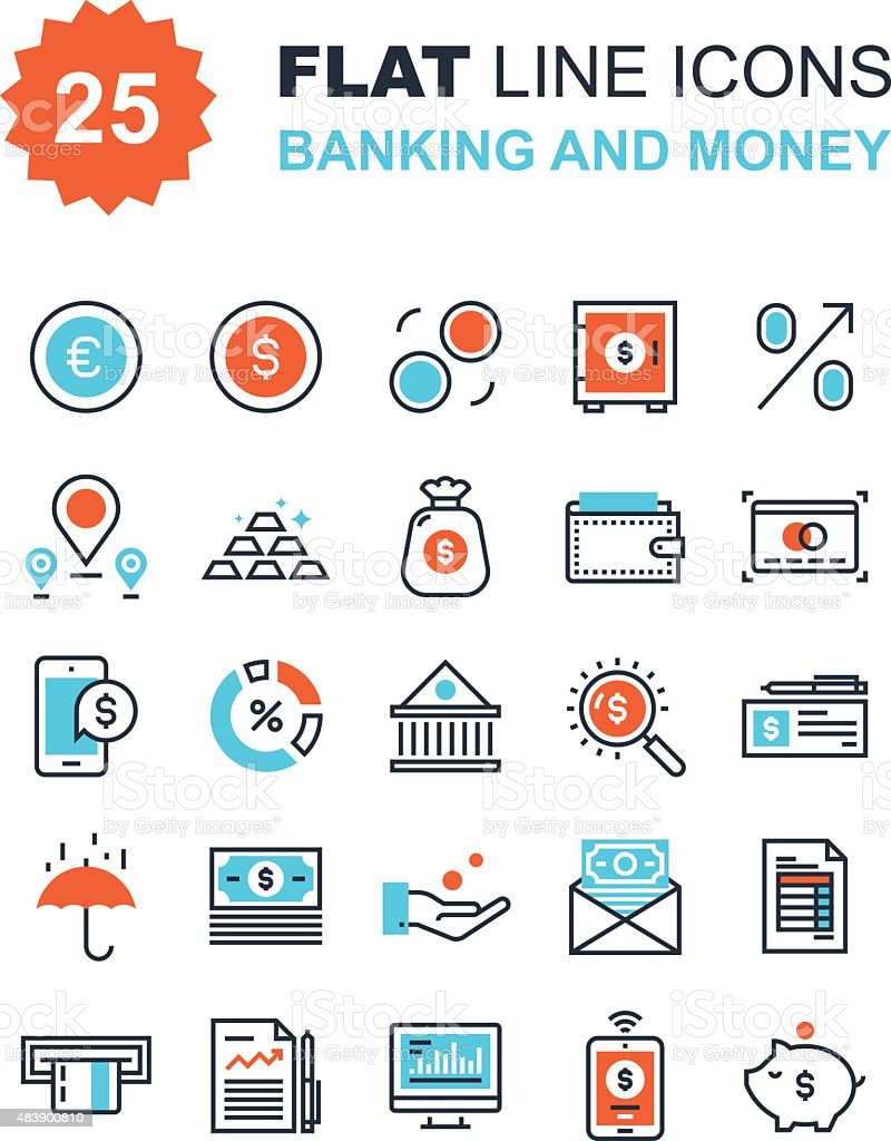 Banking and Money vector art illustration