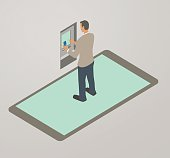 Banking App Illustration
