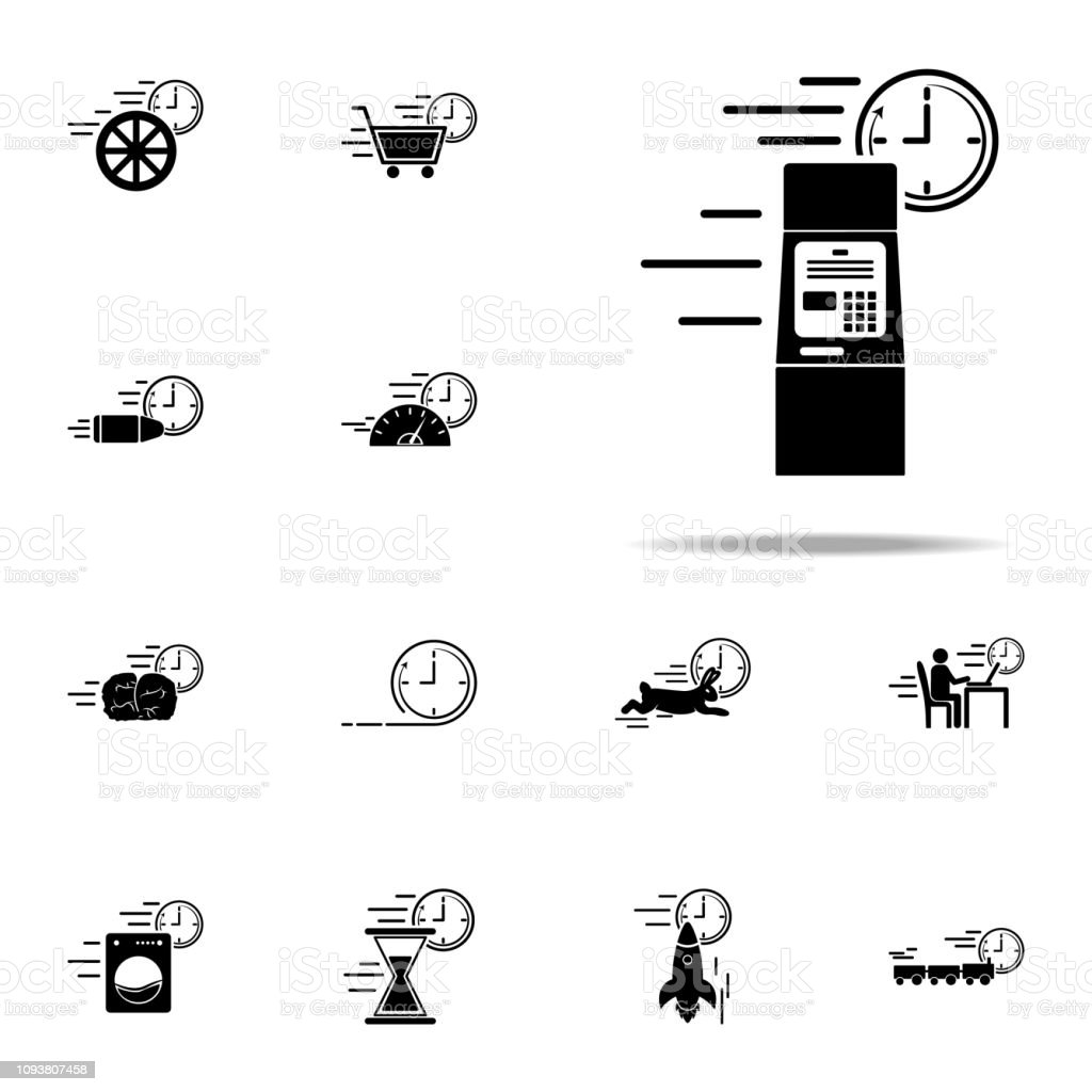 Banking Atm Speed Icon Speed Icons Universal Set For Web And
