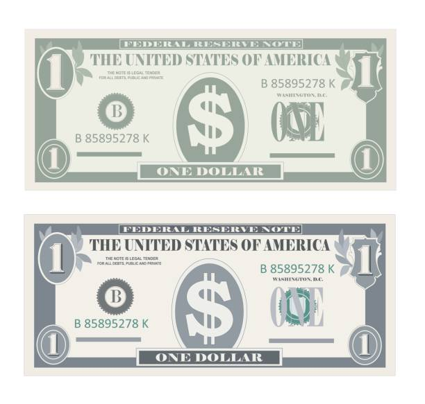 Best Us Paper Currency Illustrations, Royalty-Free Vector