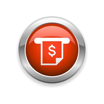 ATM Banking Finance Glossy Icon