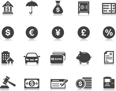 Banking & Finance icons   Pictoria series