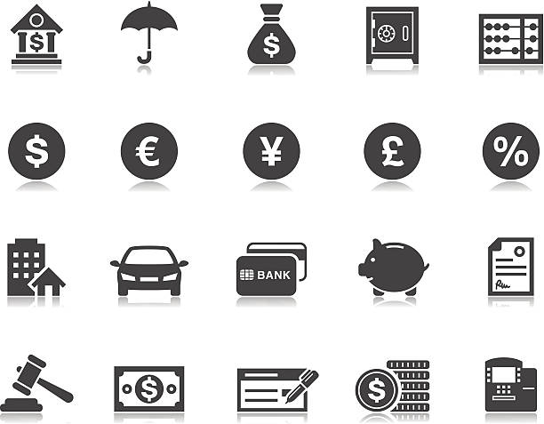 banking & finanzen icons/pictoria series - euros cash stock-grafiken, -clipart, -cartoons und -symbole