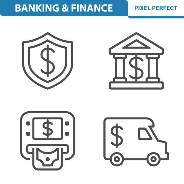 Banking & Finance Icons vector art illustration