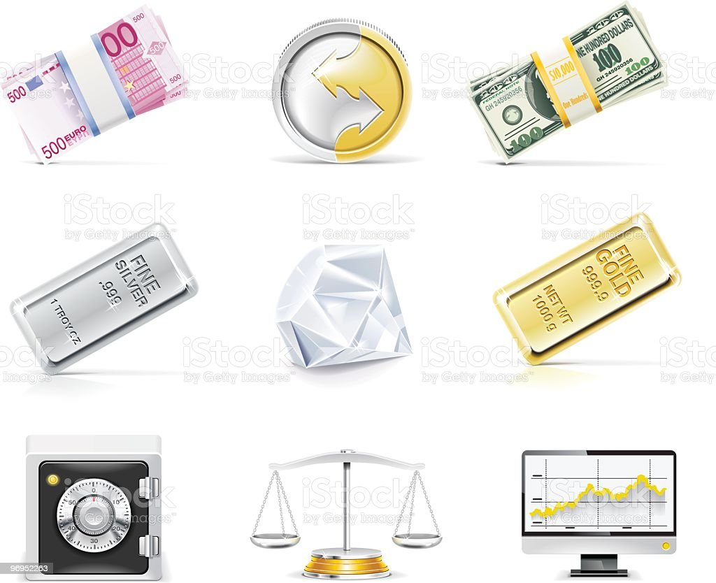Banking icon set royalty-free banking icon set stock vector art & more images of balance