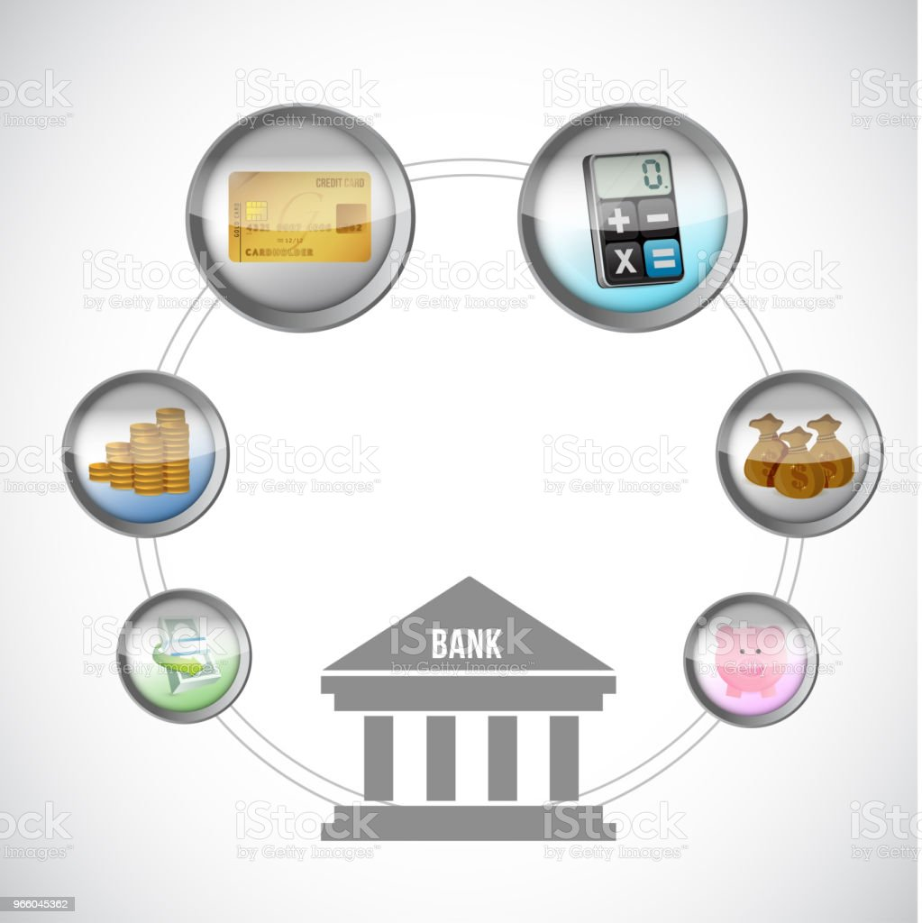 banking icons Illustration. Vector Illustration. - Royalty-free Abstract stock vector
