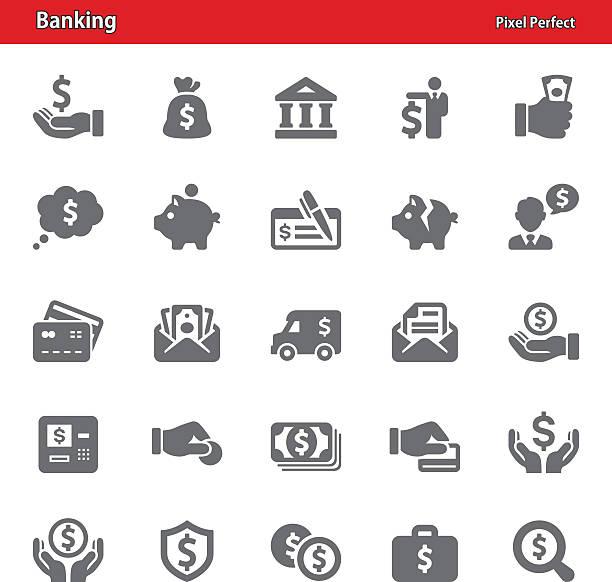 Banking Icons - Set 1 vector art illustration