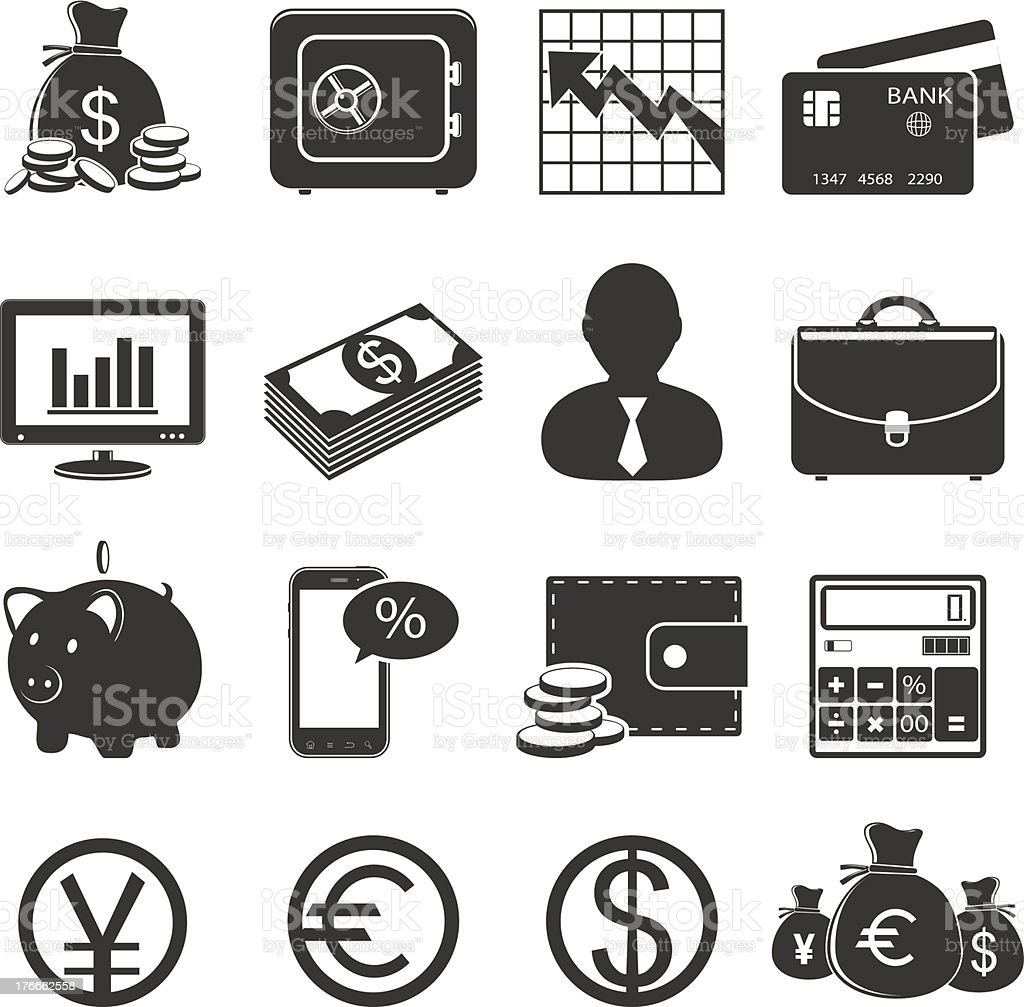 Banking icons royalty-free banking icons stock vector art & more images of bank