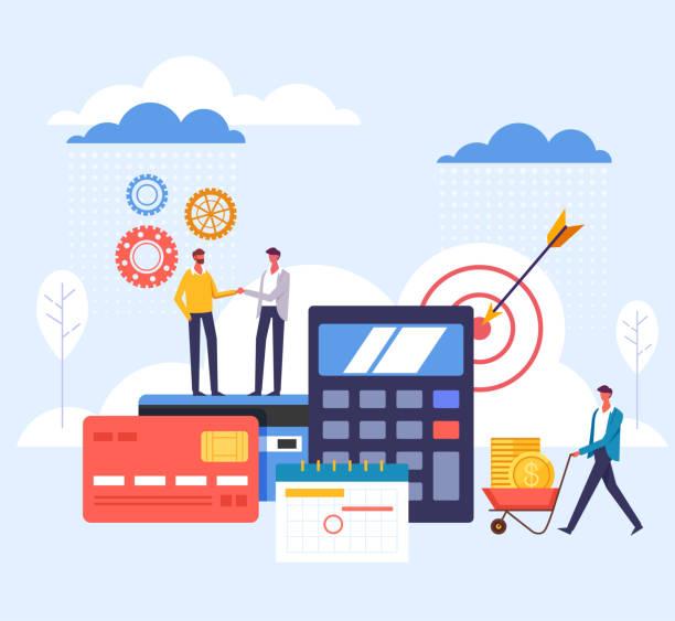 Banking management economy concept. Vector flat graphic design cartoon illustration vector art illustration