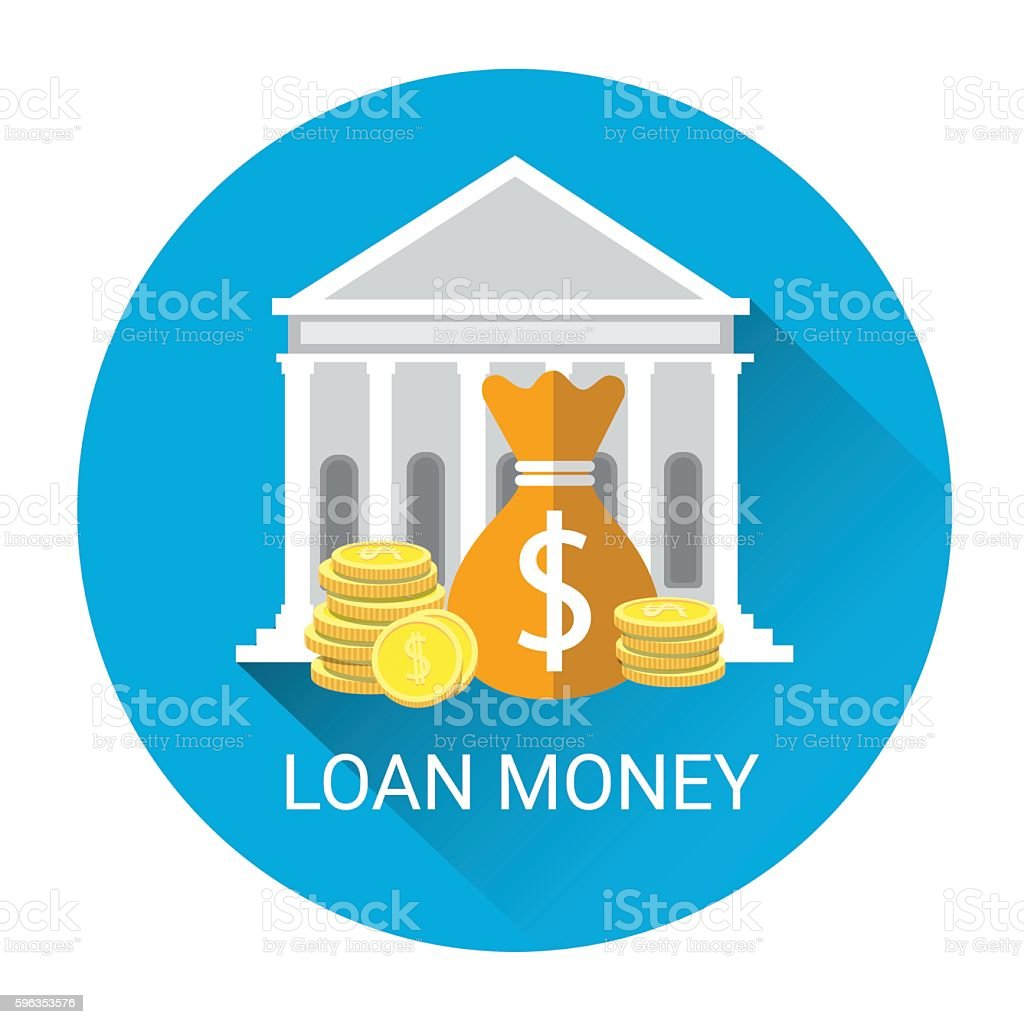 Banking Money Loan Business Economy Icon royalty-free banking money loan business economy icon stock vector art & more images of bank