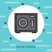 Banking Thin Line Switzerland Icon
