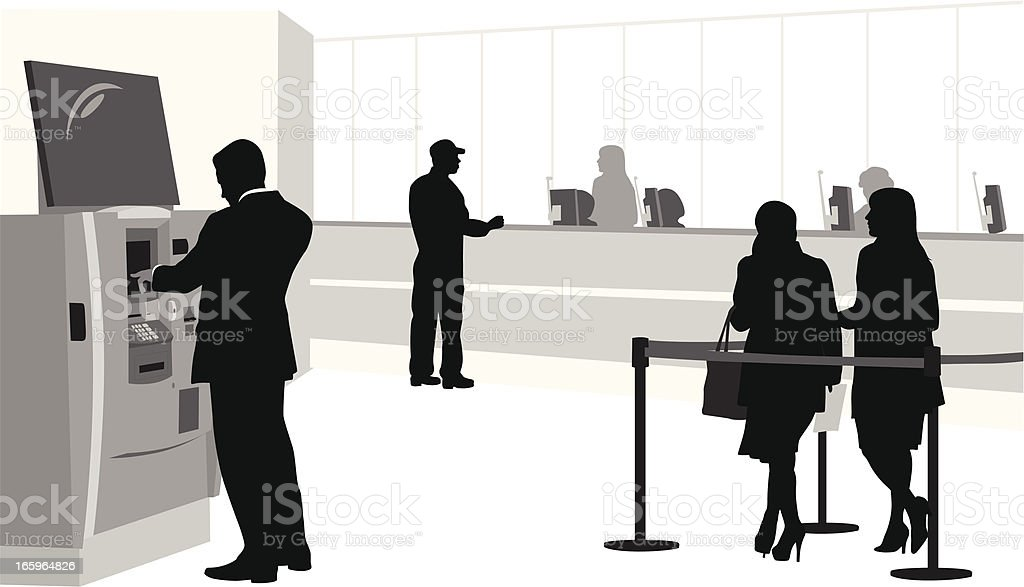 Banking Vector Silhouette royalty-free banking vector silhouette stock vector art & more images of atm
