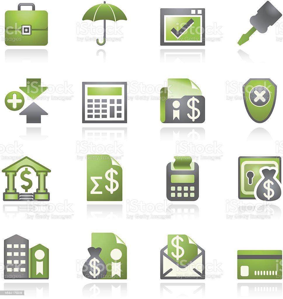 Banking web icons. Gray and green series. royalty-free stock vector art