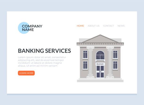 Banking web page banner poster concept. Vector design flat graphic cartoon illustration vector art illustration