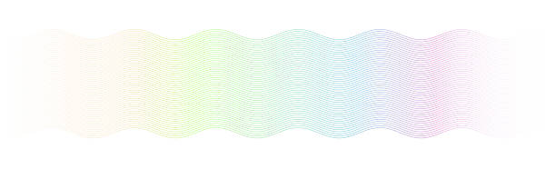 banknote watermark pattern Guilloche pattern. Abstract sine wave curved lines. tickets and vouchers templates stock illustrations