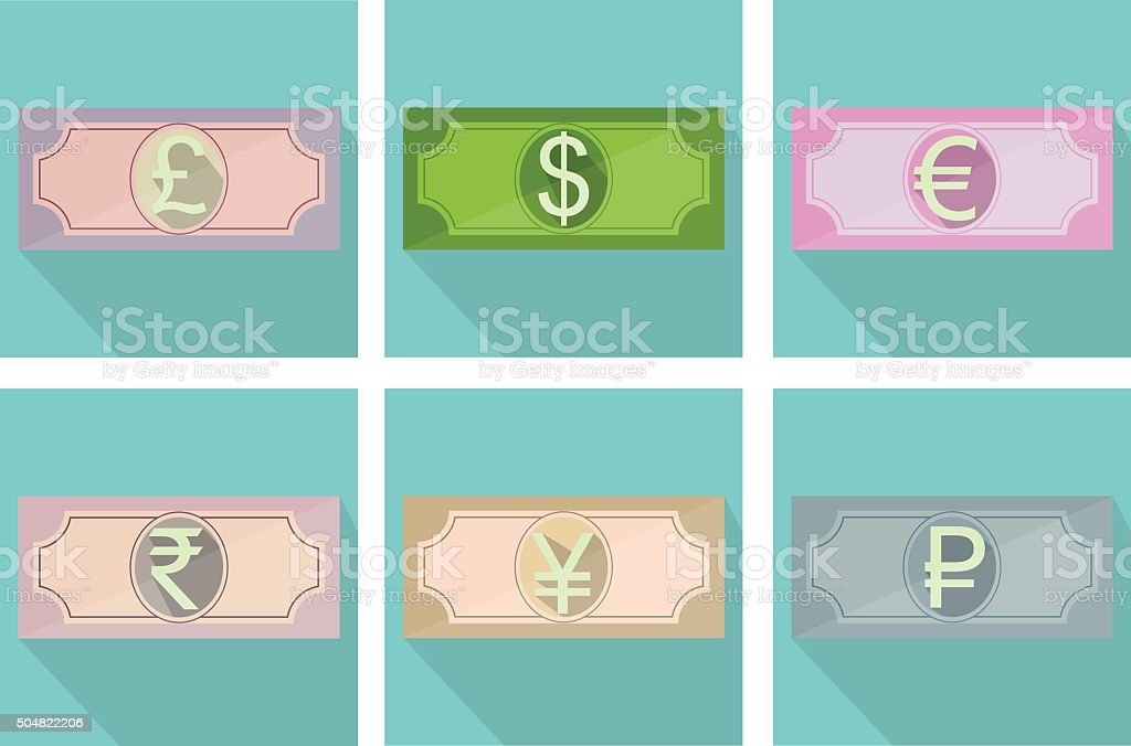 Banknotes icon vector art illustration