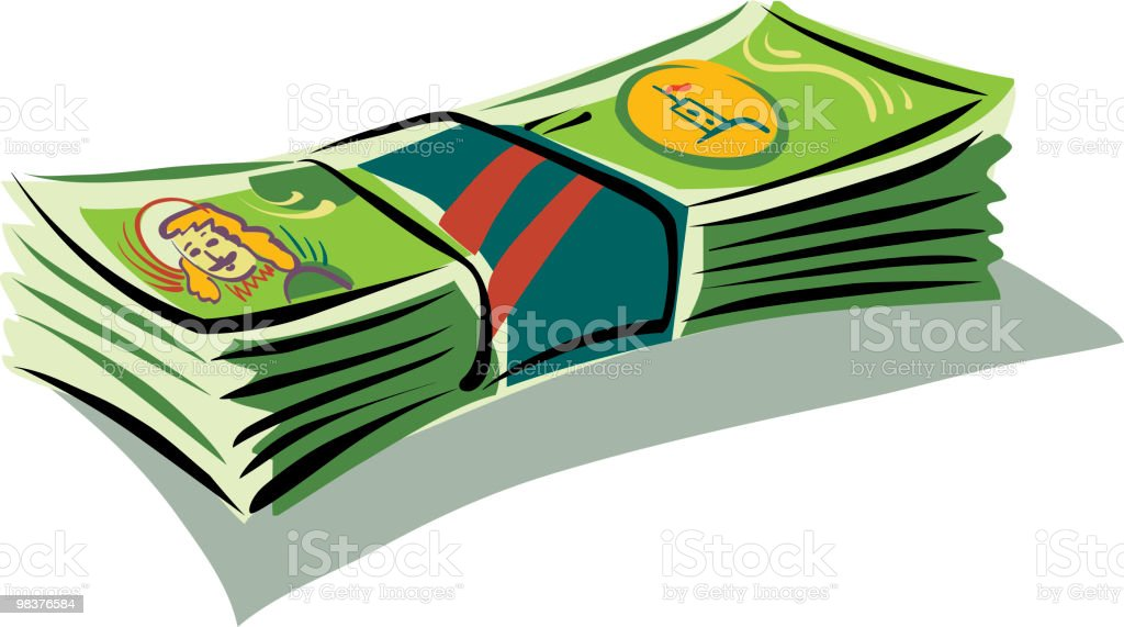 Banknotes royalty-free banknotes stock vector art & more images of bundle