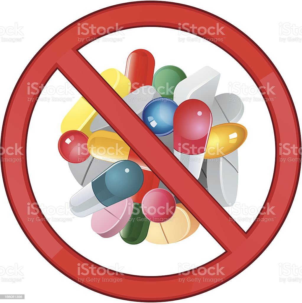 Banned Drugs royalty-free stock vector art