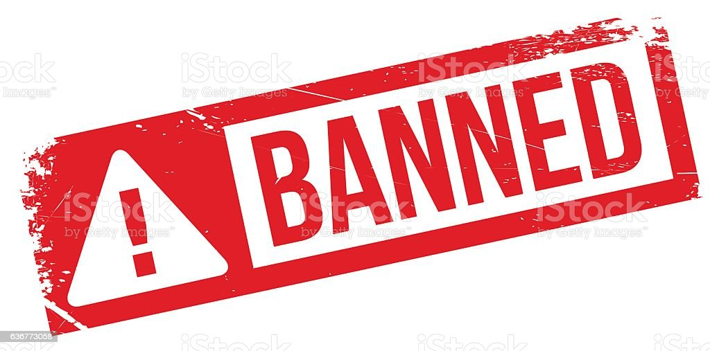 Banned Stamp Rubber Grunge Stock Illustration - Download Image Now - iStock