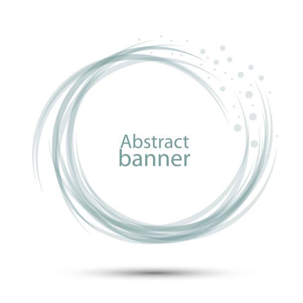 橫幅抽象圓形向量透明灰藍色向量藝術插圖