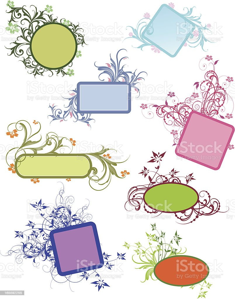 Banner Assortment royalty-free stock vector art