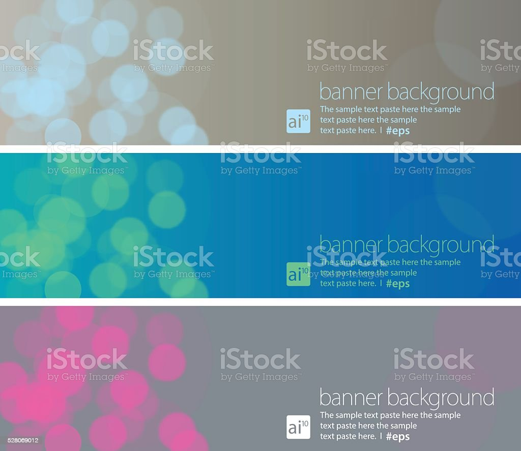 Banner Background Set vector art illustration
