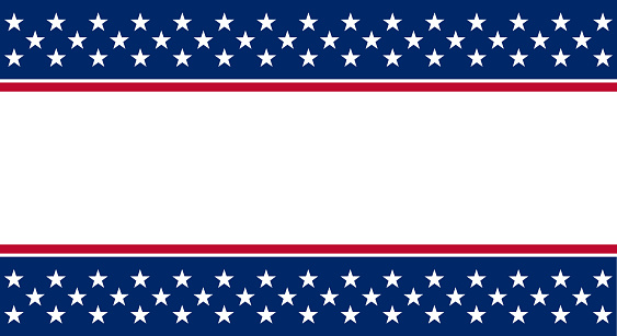 Vector illustration of USA banner background with American flag elements