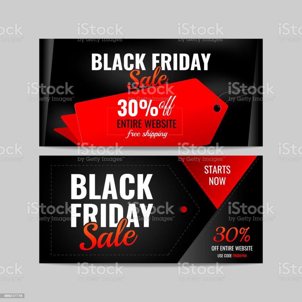 Banner black Friday vector illustration vector art illustration