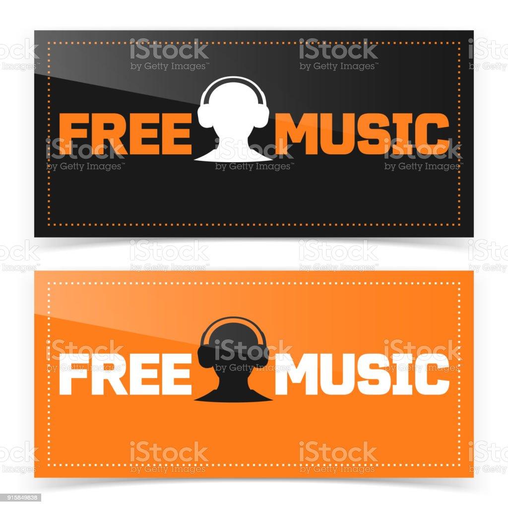 Diseño De Banner Botón Con Icono De La Música Gratis - Arte ...
