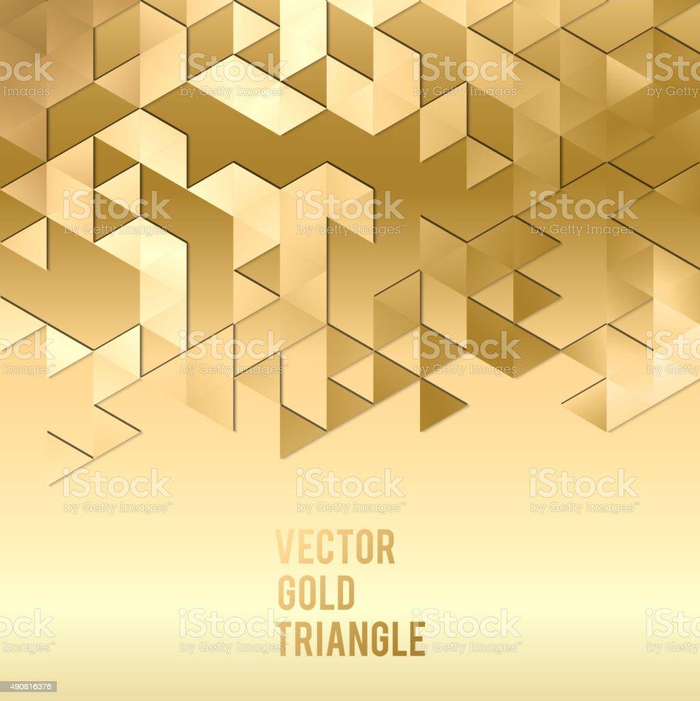 バナーのデザインです。抽象的な背景テンプレートにゴールドの三角形 ベクターアートイラスト