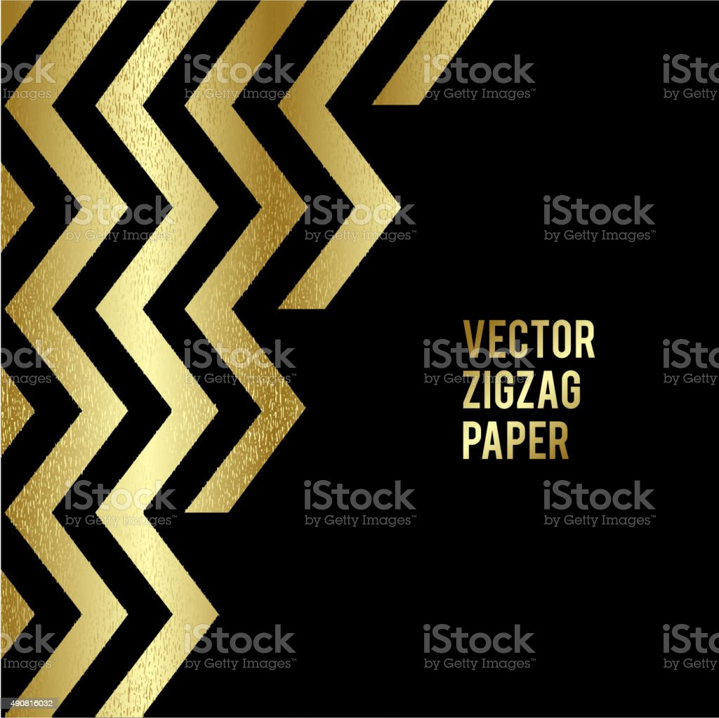 Bannerdesign Abstrakte Vorlage Hintergrund Mit Gold Zickzackformen ...
