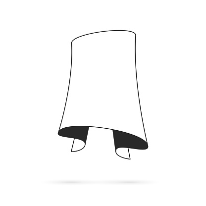 Banner (outline, line art) - Design Element on white background