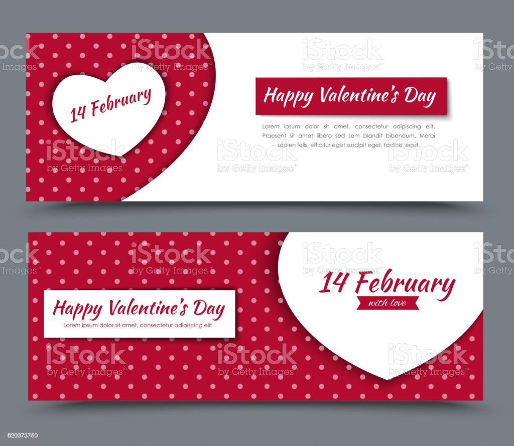 Banner design for Valentine's Day banner design for valentines day - stockowe grafiki wektorowe i więcej obrazów baner royalty-free