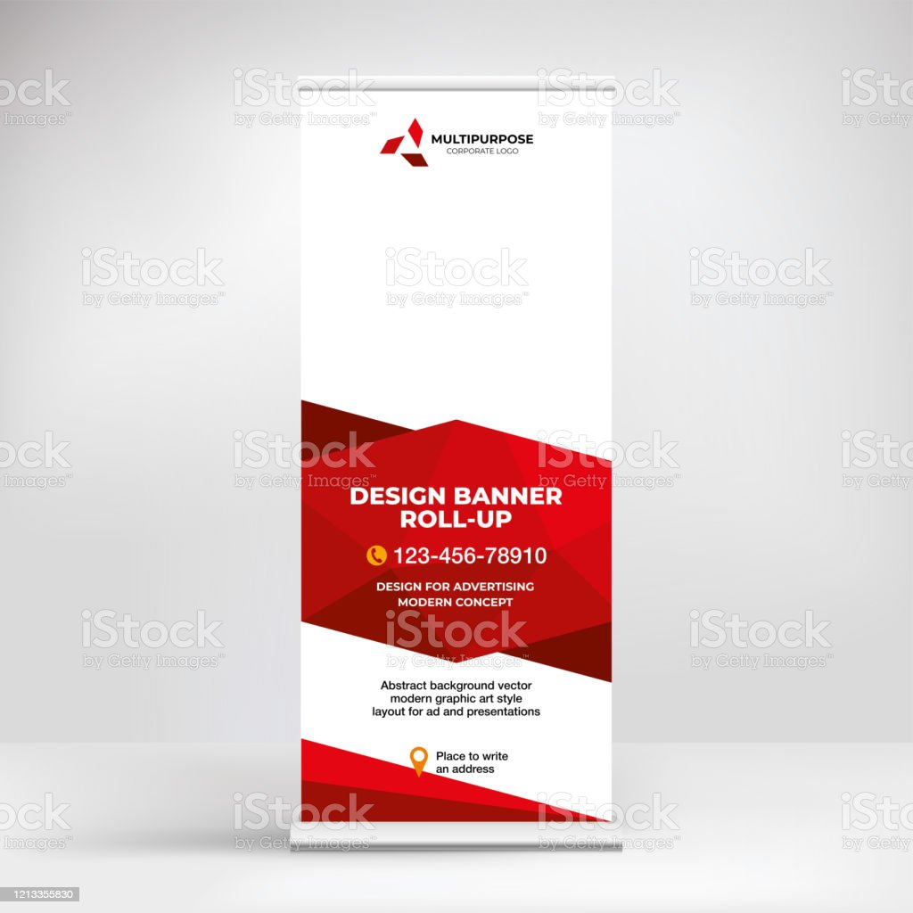 Banner Design Rollup Stand For Advertising Conferences Seminars Poster Template For Placing Photos And Text Creative Background For Presentation Stock Illustration Download Image Now Istock,Architecture Building Design