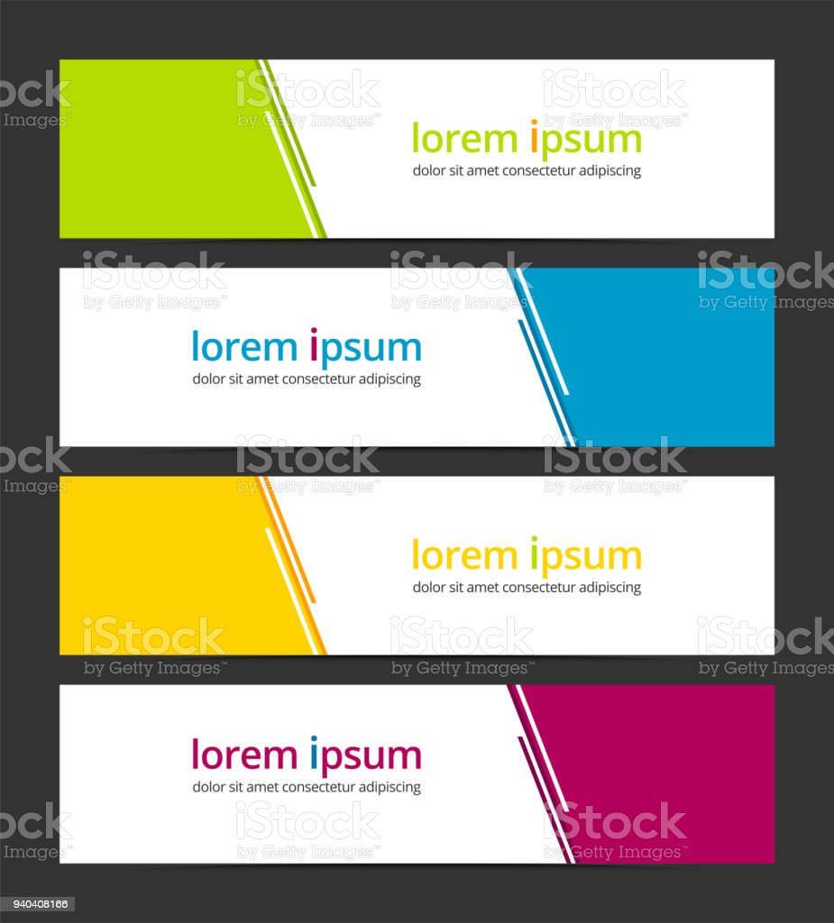 Banner design template abstract background geometric vector. Corporate business banner advertising set. Infographic design elements. vector art illustration