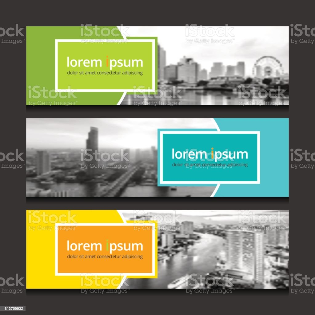 Banner design template background vector. Corporate business banners advertising set. vector art illustration