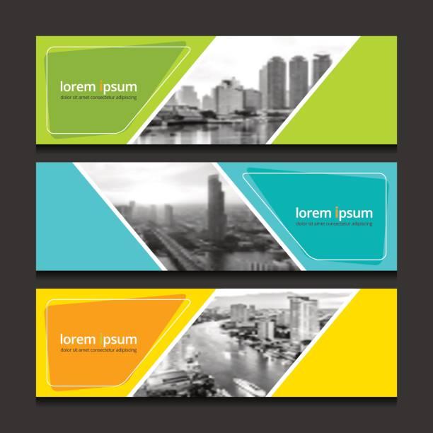 Banner design template background vector. Corporate business banners advertising set. vector art illustration