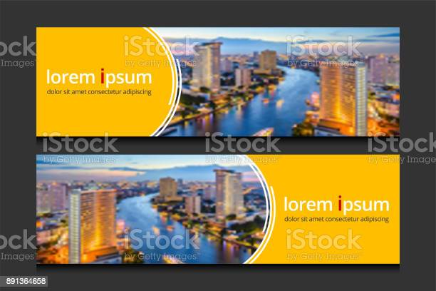 Banner Design Template Background Vector Corporate Business Banners Advertising Set Stock Illustration - Download Image Now