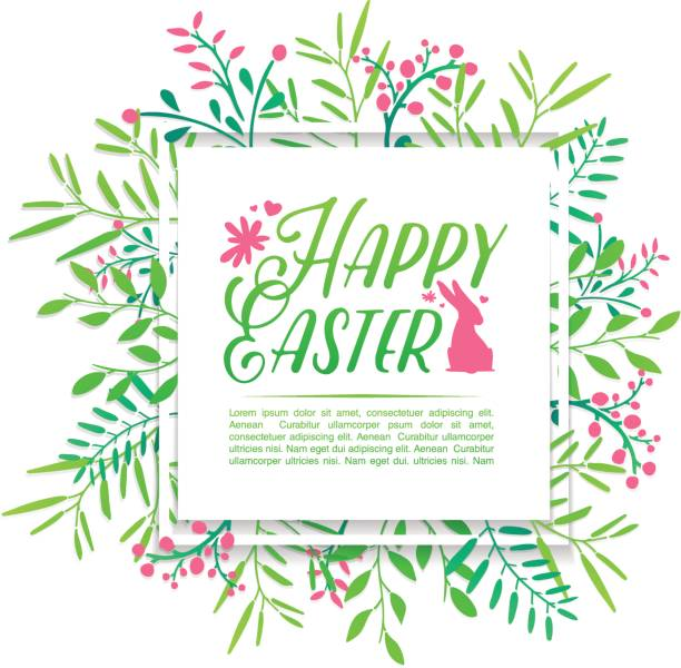 royalty free happy easter card template clip art vector images